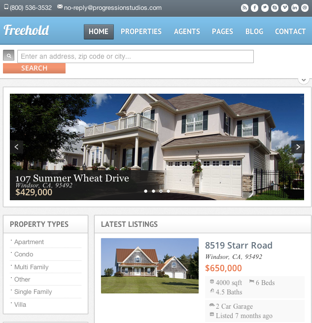 wordpress-immobilier-freehold