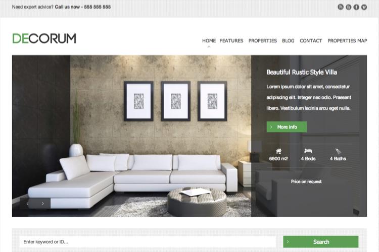 wordpress-site-immobilier-decorum