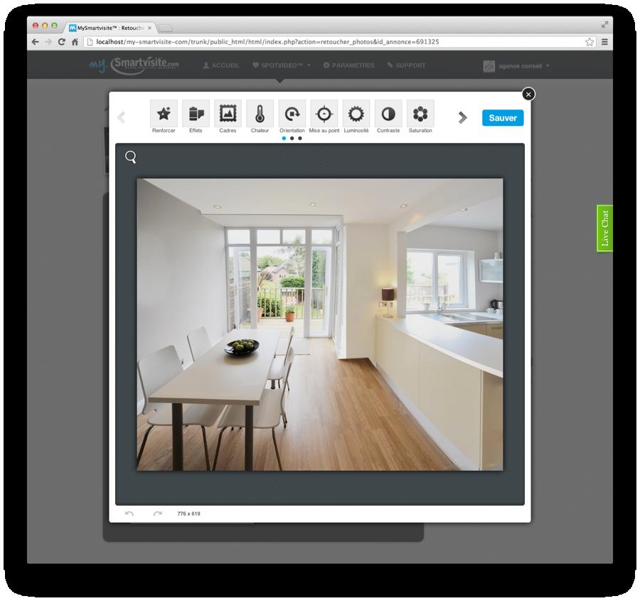 Les différents outils de retouche photos