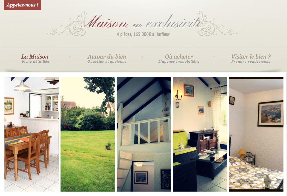 Un exemple de site mandats exploitant les photos retouchés : http://harfleur.avendre-maison.com/