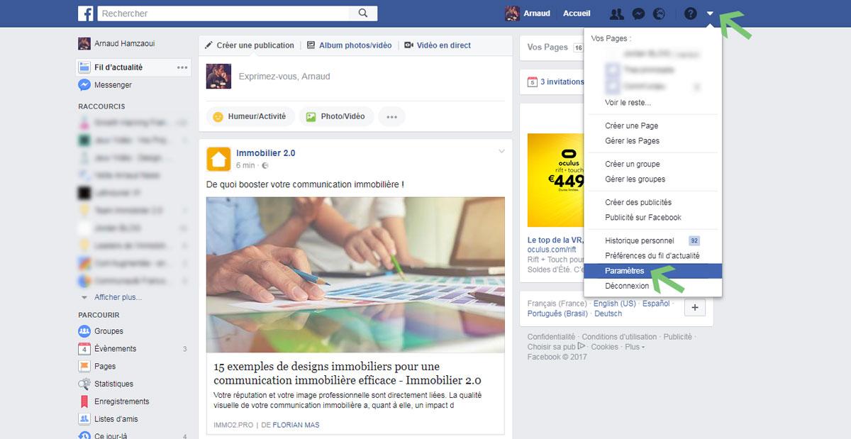 facebook_immobilier_profil_professionnel_parametres