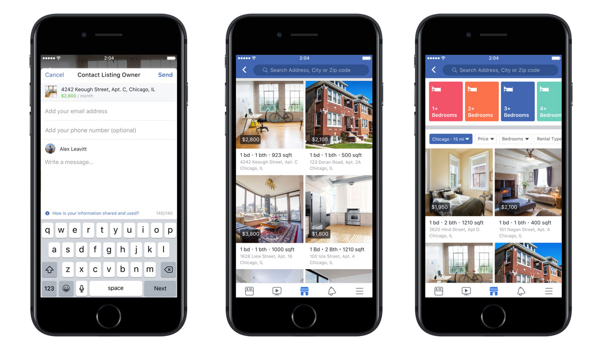 facebook immobilier : illustration de la marketplace