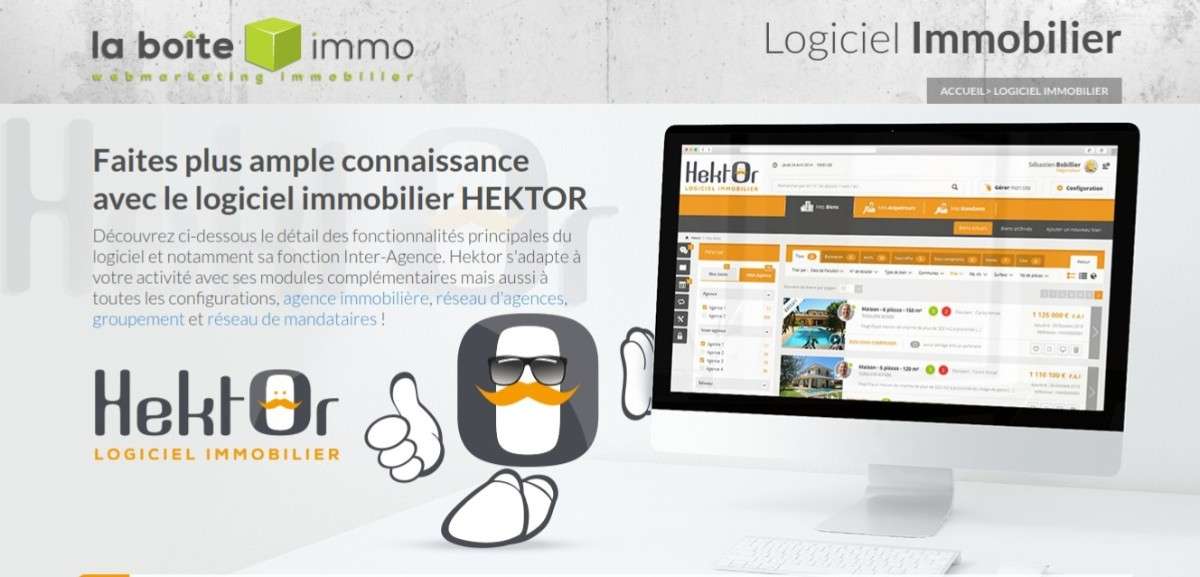 Hektor : logiciel immobilier par La Boite Immo - illustration site internet