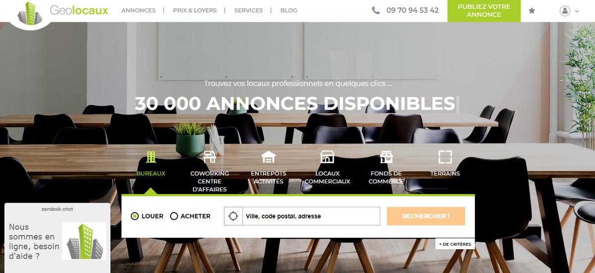 geolocaux - annonces pour l'immobilier d'entreprise
