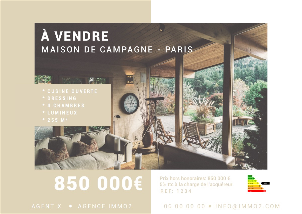 Affiche Vitrine Immobilier Into The Wild1