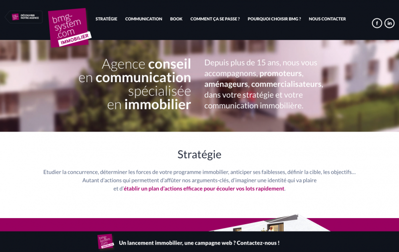 Bmg Systeme Immobilier Communication Promoteurs