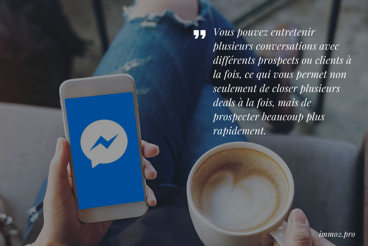 Conversations Prospects Messenger Immobilier