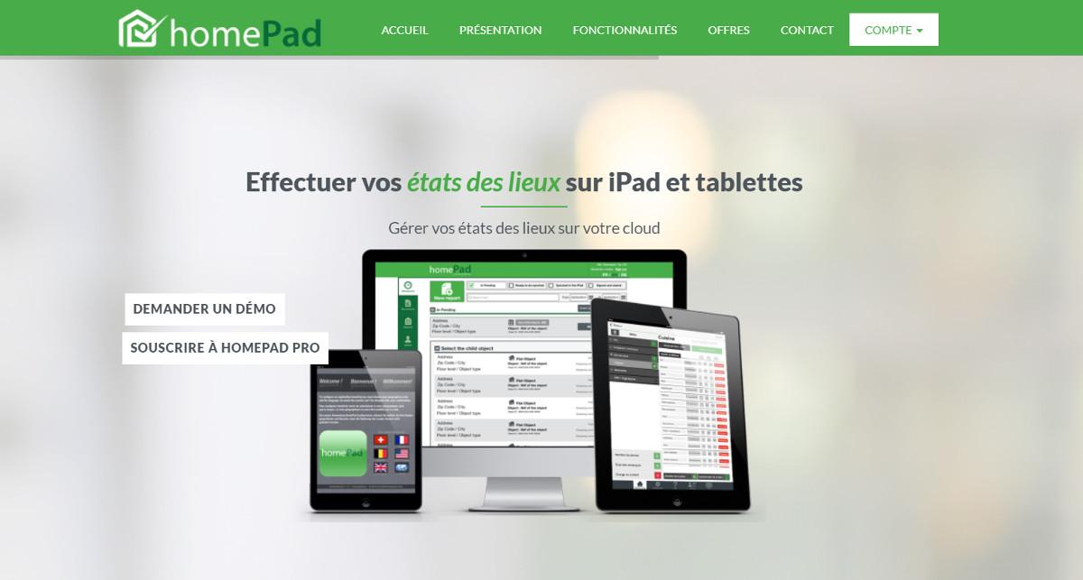 Homepad Etats Des Lieux Immobilier Dematerialises Homepage Illustration