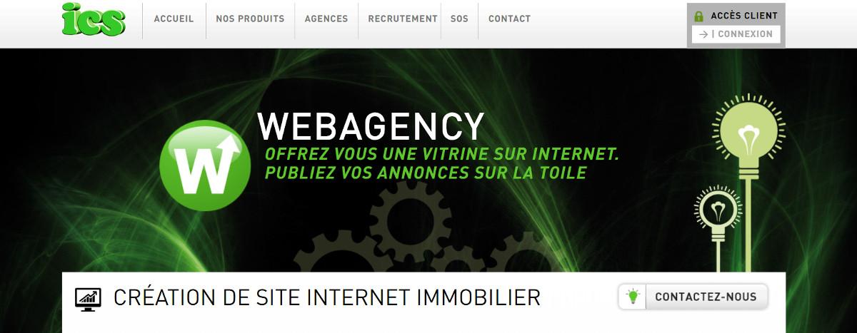Ics Creation Site Web Immobilier Illustration