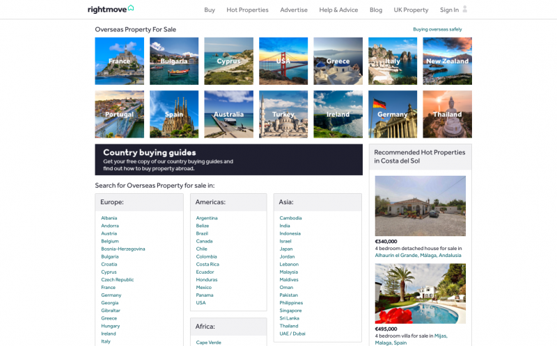 Rightmove Overseas Portail Immobilier Acheteur Etranger