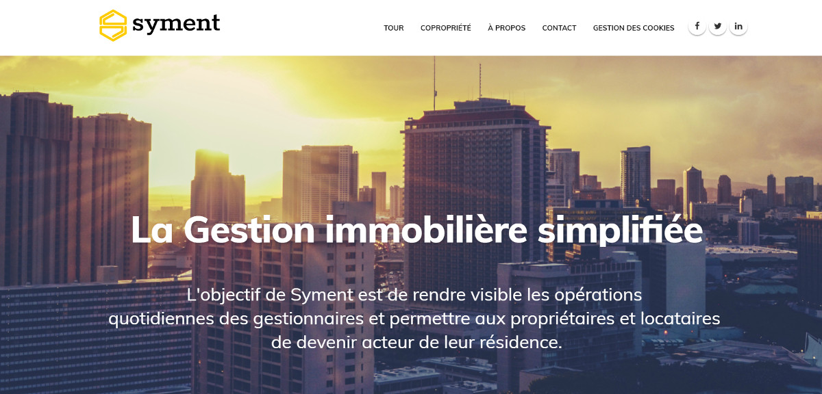 Syment Homepage Logiciel Gestion Immobilier Coproprietes Agence