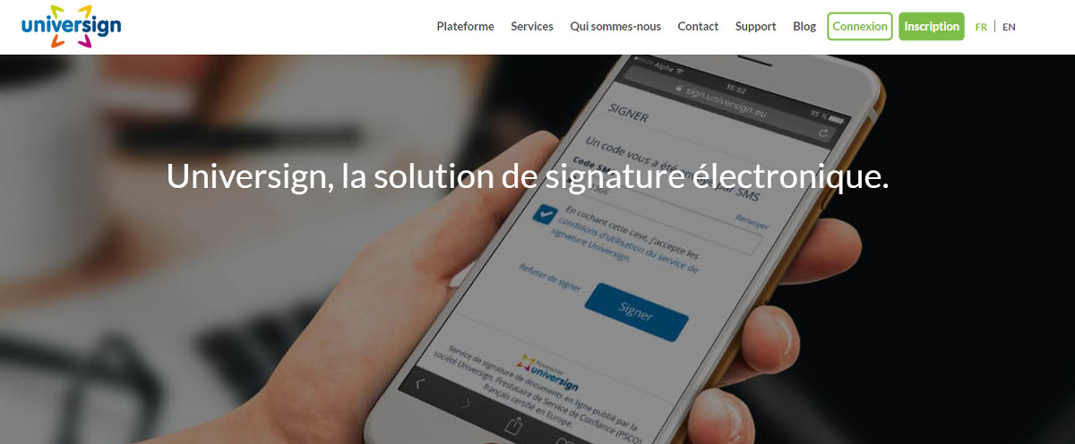 Universign Signature Electronique Immobilier Homepage