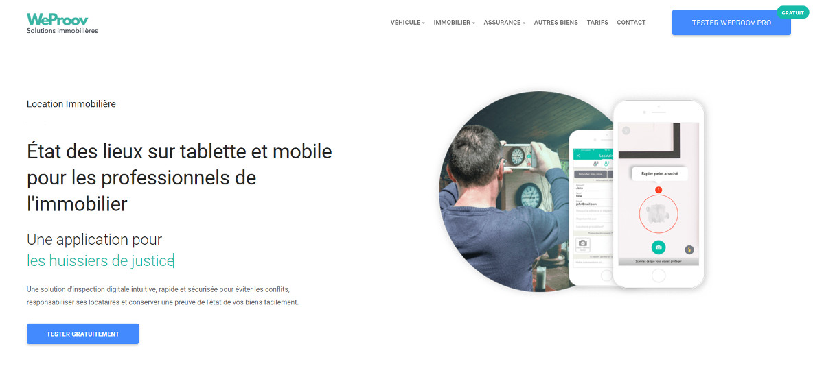 Weproov Etat Lieux Immobilier Mobile Illustration