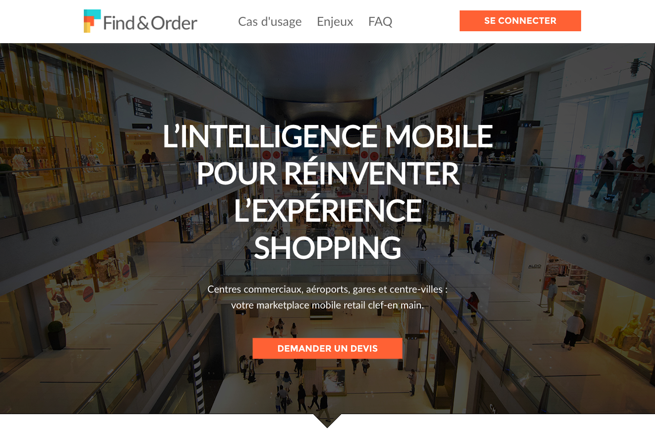 Find And Order App Mobile Retail Centre Commerciaux