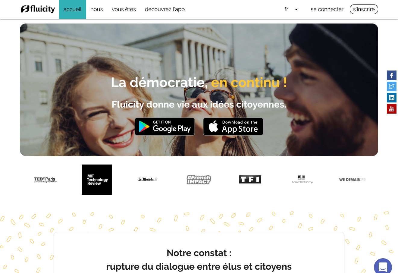 Fluicity Application Dialogue Citoyen