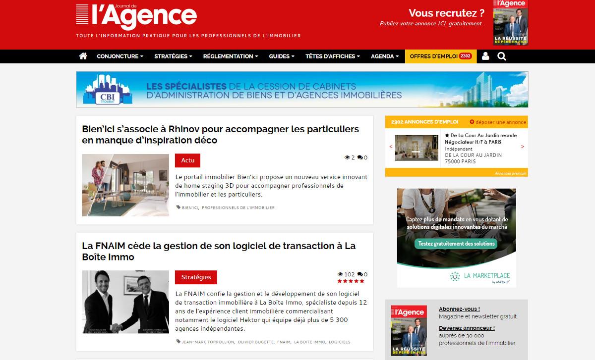 Journaldelagence Medias Immobilier Illustration Info