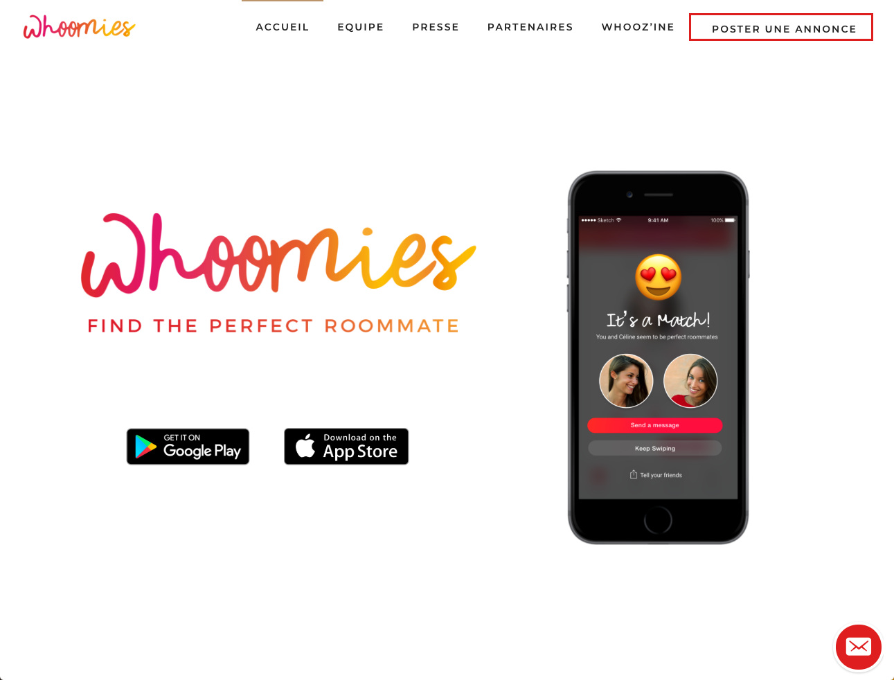 Whoomies Colocation Application Colocataires