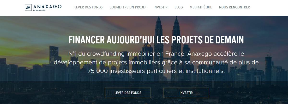 Anaxago Crowdfunding Immobilier Homepage