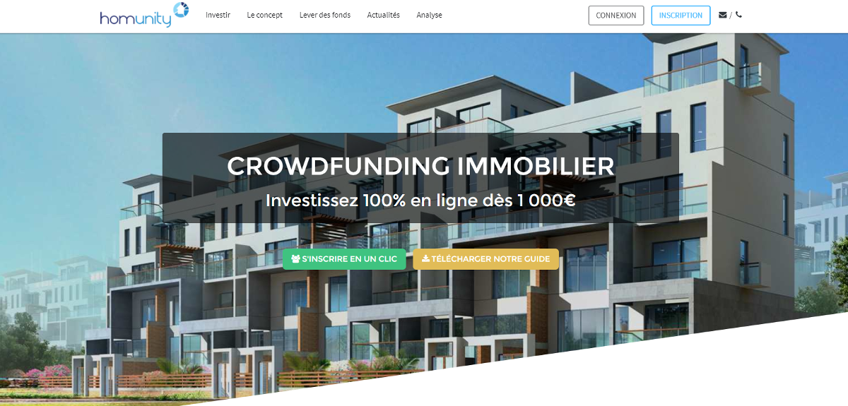 Homunity Crowdfunding Immobilier Annuaire Immobilier Illustration
