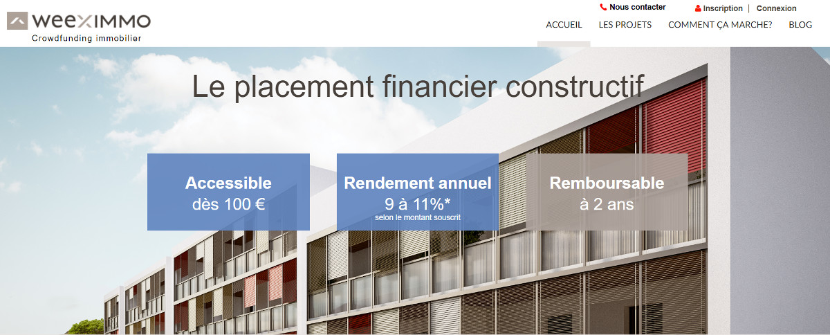 Weeximmo Crowdfunding Immobilier Annuaire Homepage