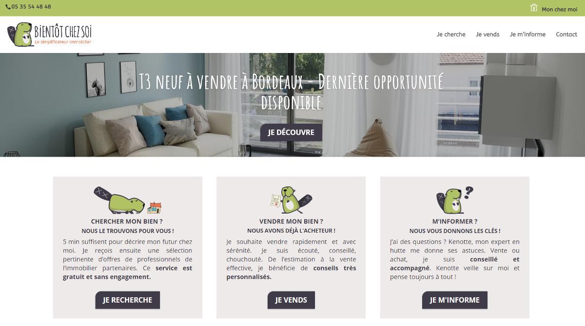 Bientotchezsoi Recherche Immobilier Startup