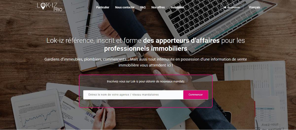 Lok Iz Apporteur Affaires Professionnels Startup Immobilier