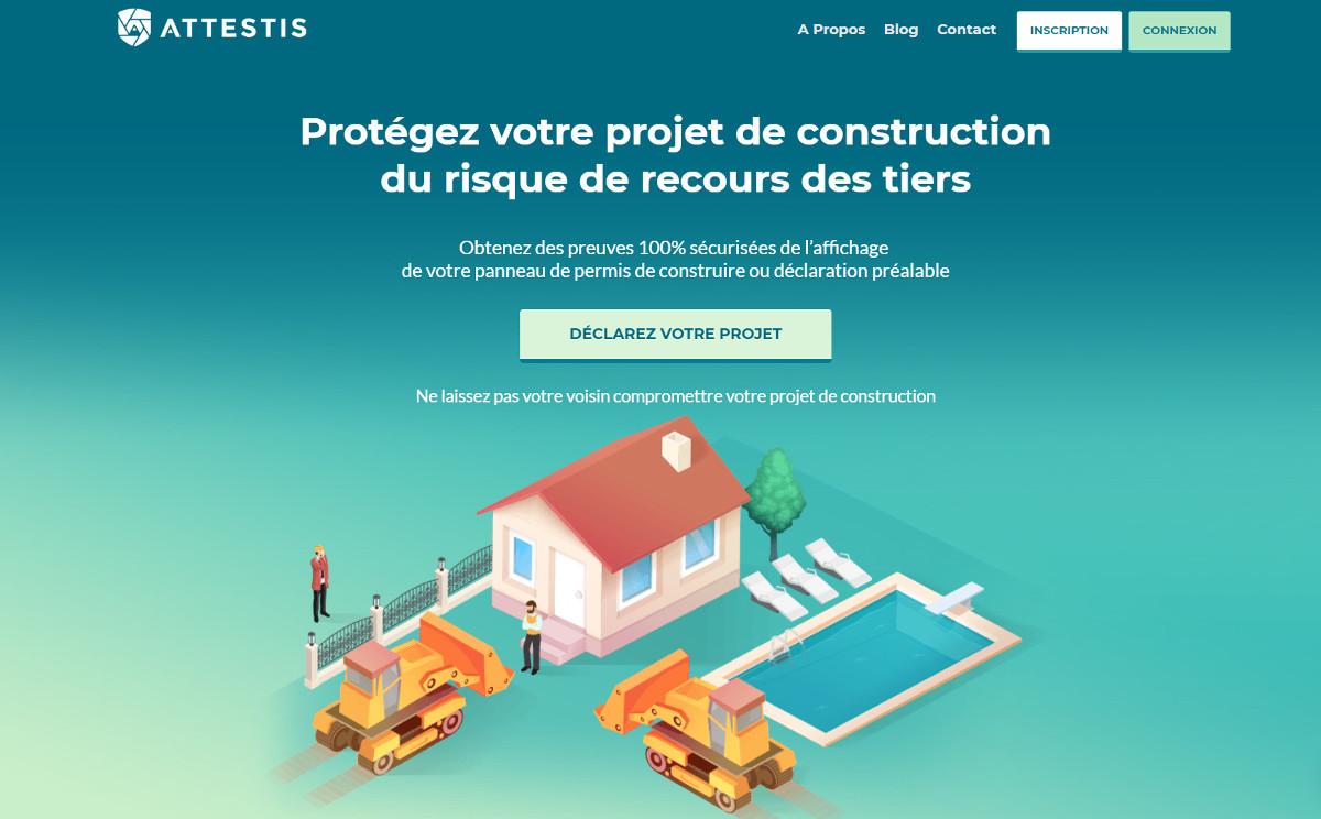 Attestis Startup Immobilier Preuve Permis Construction