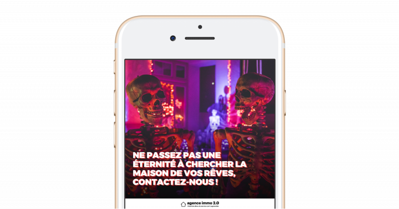 Template Immobilier Reseaux Sociaux Communication Halloween4