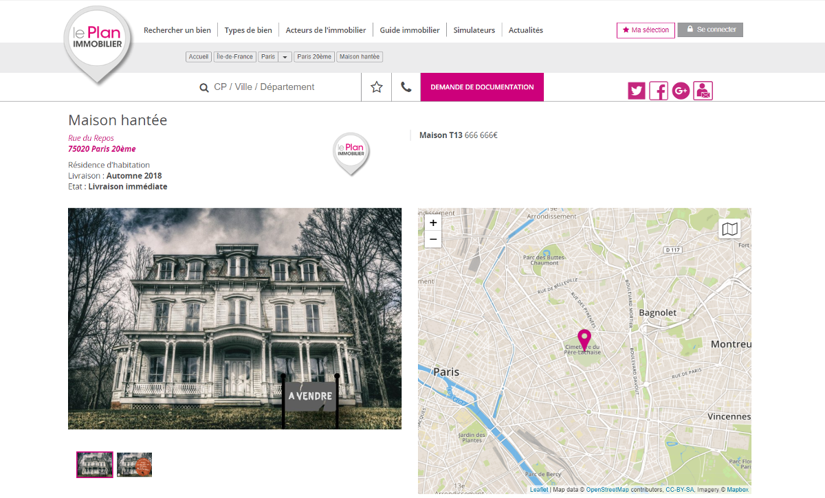 Communication Immobilier Leplan Annonce Maison Hantee