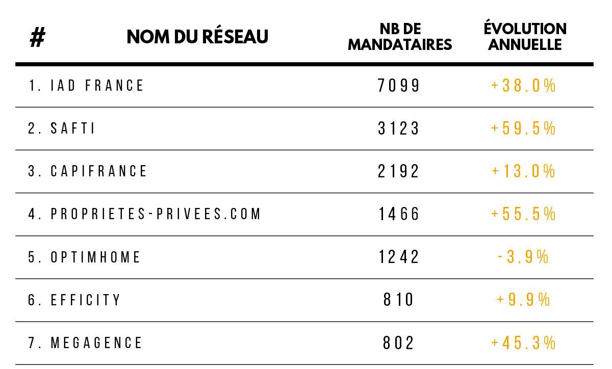 Classement Mandataires Immobiliers France 2019 Extrait