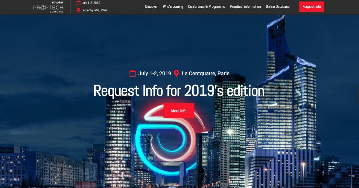 Mipim Proptech Europe 2019 Centquatre Paris Juillet