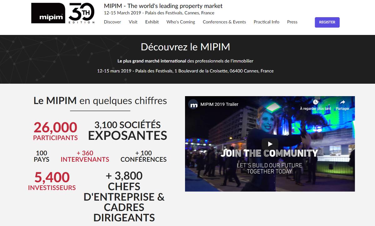 Mipim Salon Immobilier Cannes 12 Mars 2019