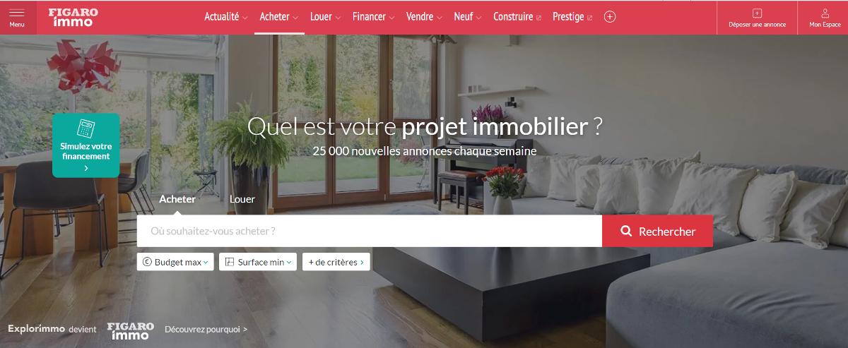 Figaroimmo Portail Immobilier Marketing Illustration
