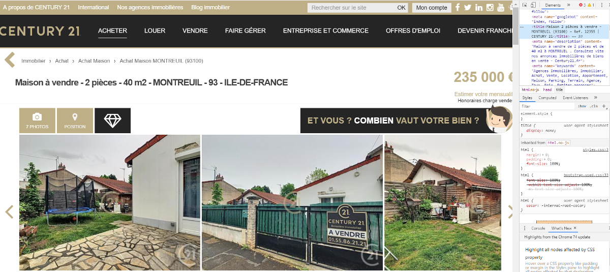 Century21 Google Analytics Immobilier Exemples Site Agence