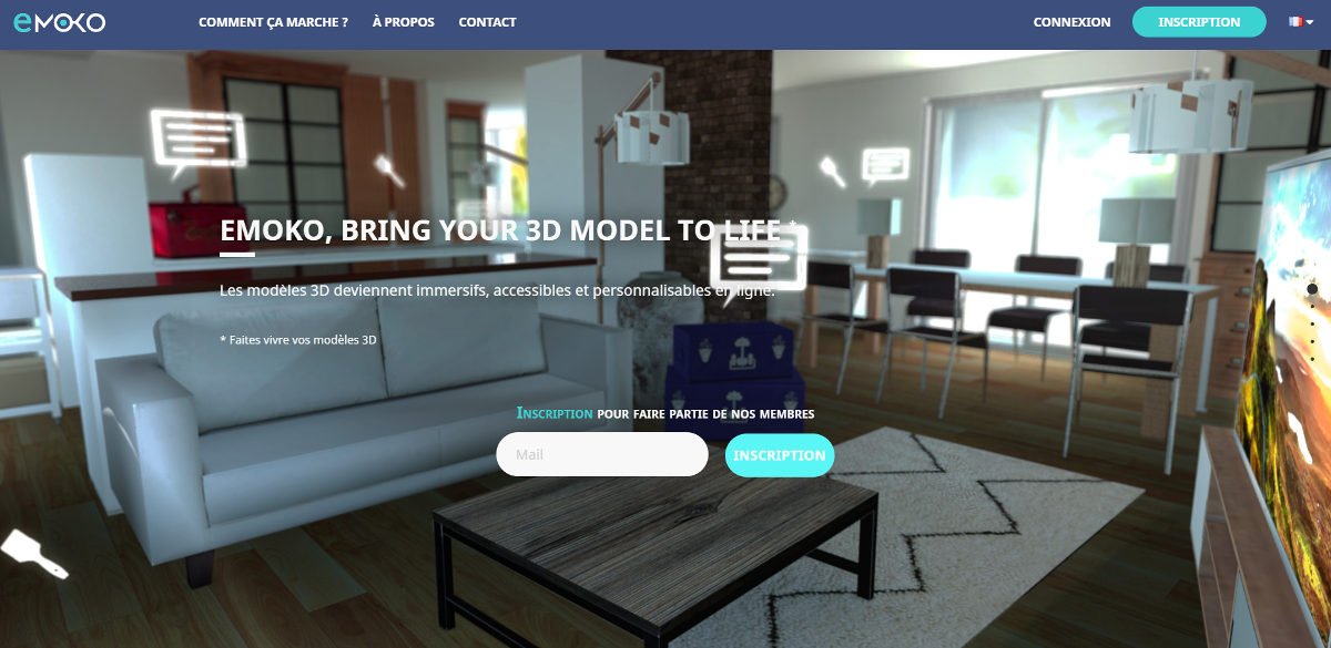Emoko Startup Immobilier Proptech Homepage