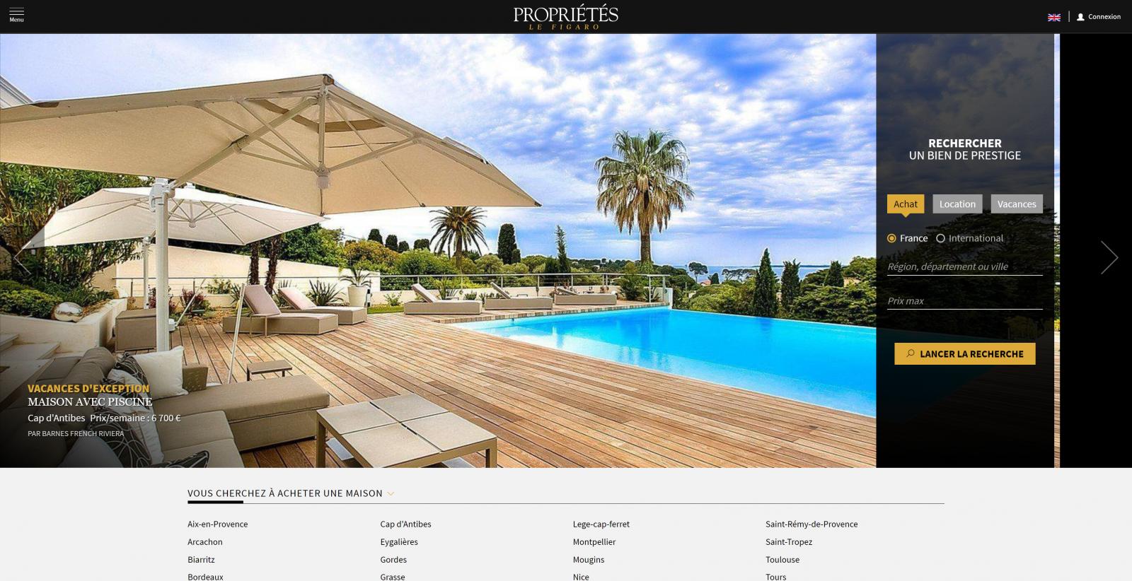 Proprietes Le Figaro Portail Immobilier Prestige