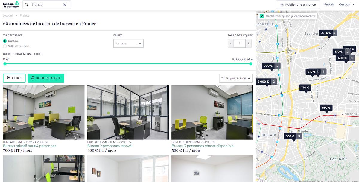 Bureaux A Partager Portail Immobilier Entreprise