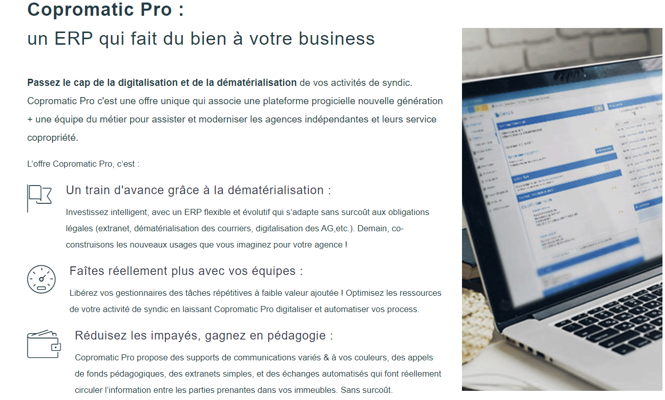 Copromatic Gestion Coproprietes Syndics Logiciel Annuaire Presentation Professionnels Immobilier