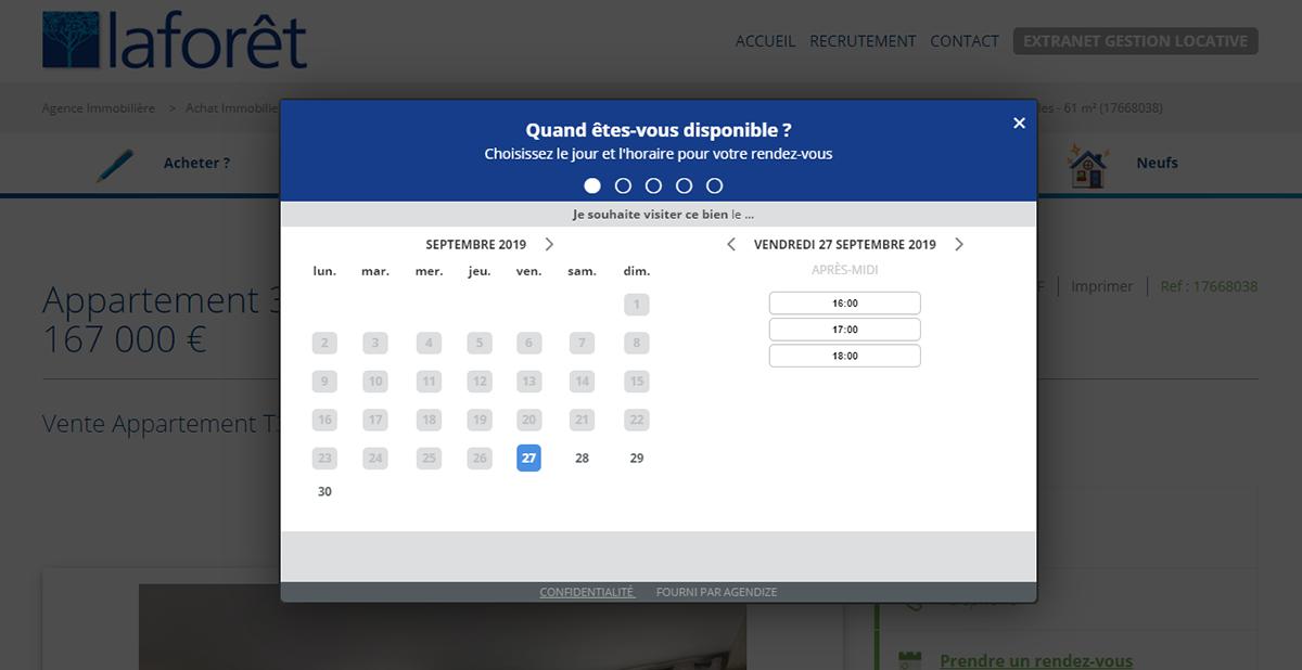 Laforet Systeme Reservation Ligne Rendez Vous Actualites