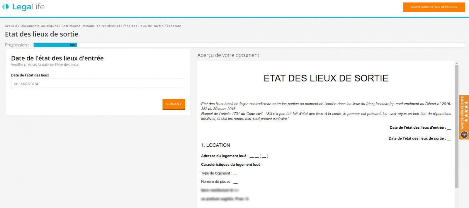 Legalife Documents Immobilier Etat Des Lieux