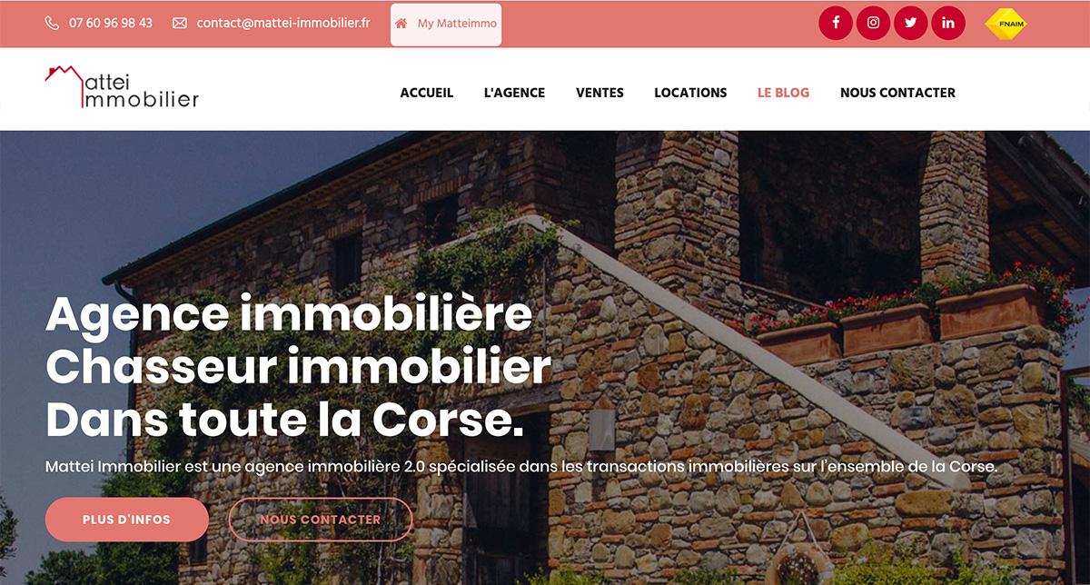 Mattei Immobilier Site Web