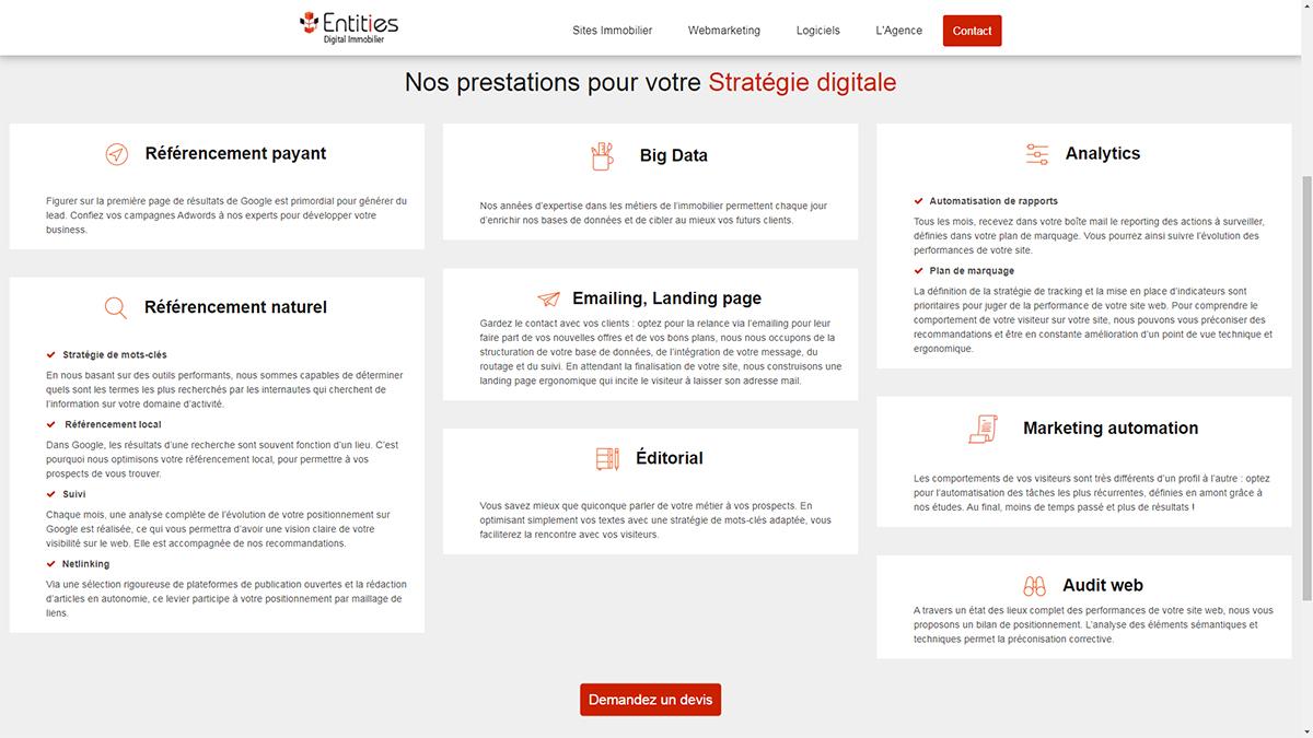 Entities Strategie Digitale Immobilier