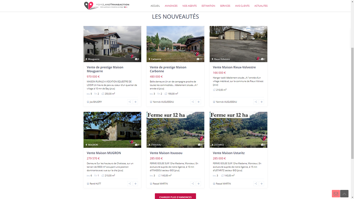 Homeland Transaction Reseau Immobilier Mandataires