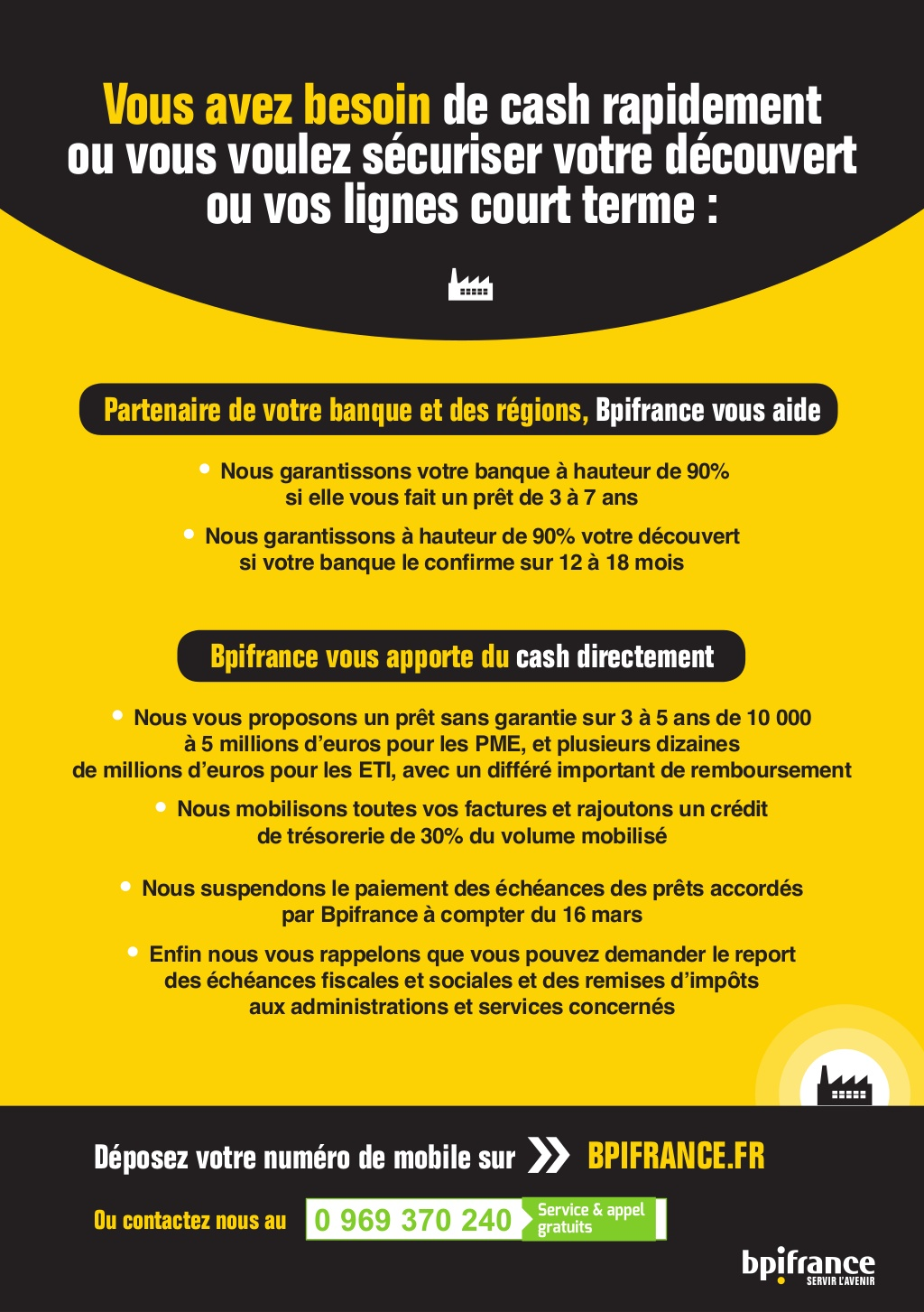 Bpifrance Annonce Coronavirus Professionnels Immobilier